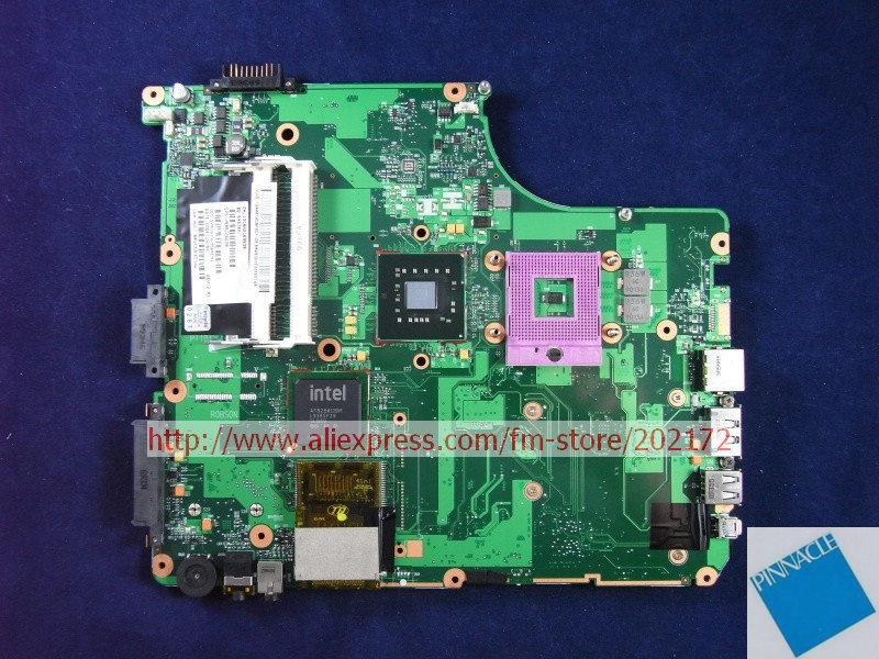 V000126620 MOTHERBOARD FOR TOSHIBA satellite A300 A305 6050A2169901TESTED GOOD nokotion sps v000198120 for toshiba satellite a500 a505 motherboard intel gm45 ddr2 6050a2323101 mb a01