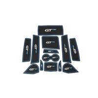 Azul Suporte de Copo Porta Interior Não-slip Mat Pad 13 pcs Para Peugeot 3008 GT 2016-2018