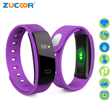 ZUCOOR Smart Wristband Fitness Bracelet Tracker Eletronicos Band QS80 Blood Pressure Bracelets Electronics For Women Pk Xiomi