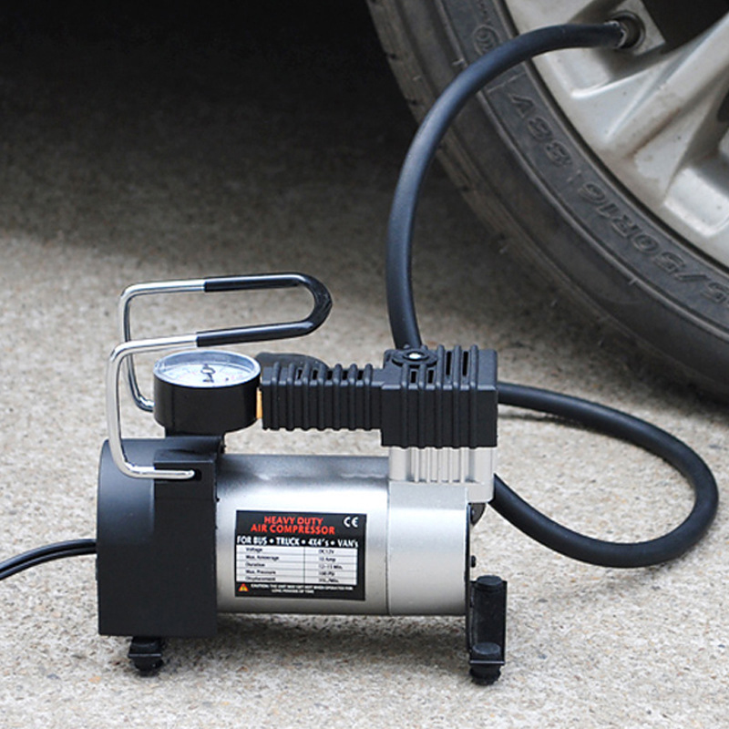 Automobile Tire Inflatable Pump Mounted Tool Kit High Power Pump Cigarette Light Type Single Cylinder Tire repair tools