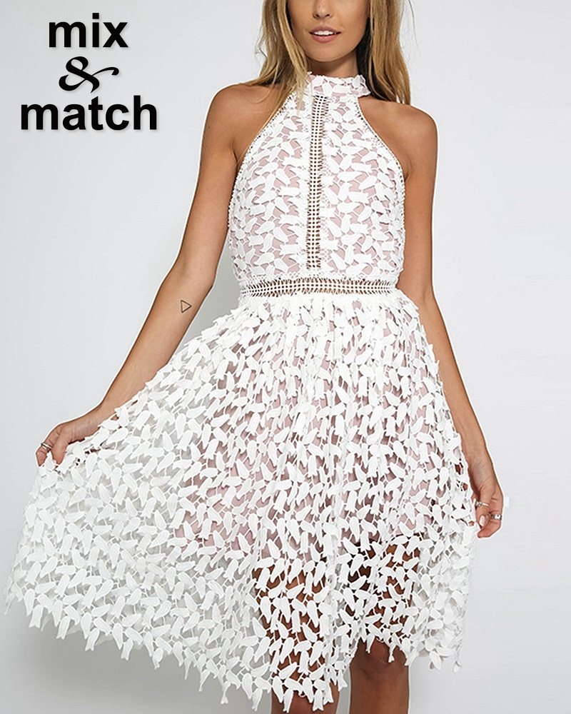 Black And White Lace Dress In How To Match