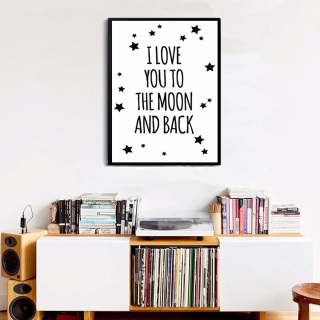 i love you to the moon and back printable nursery quotes oil painting canvas printings art poster cuadros decoracion no frame