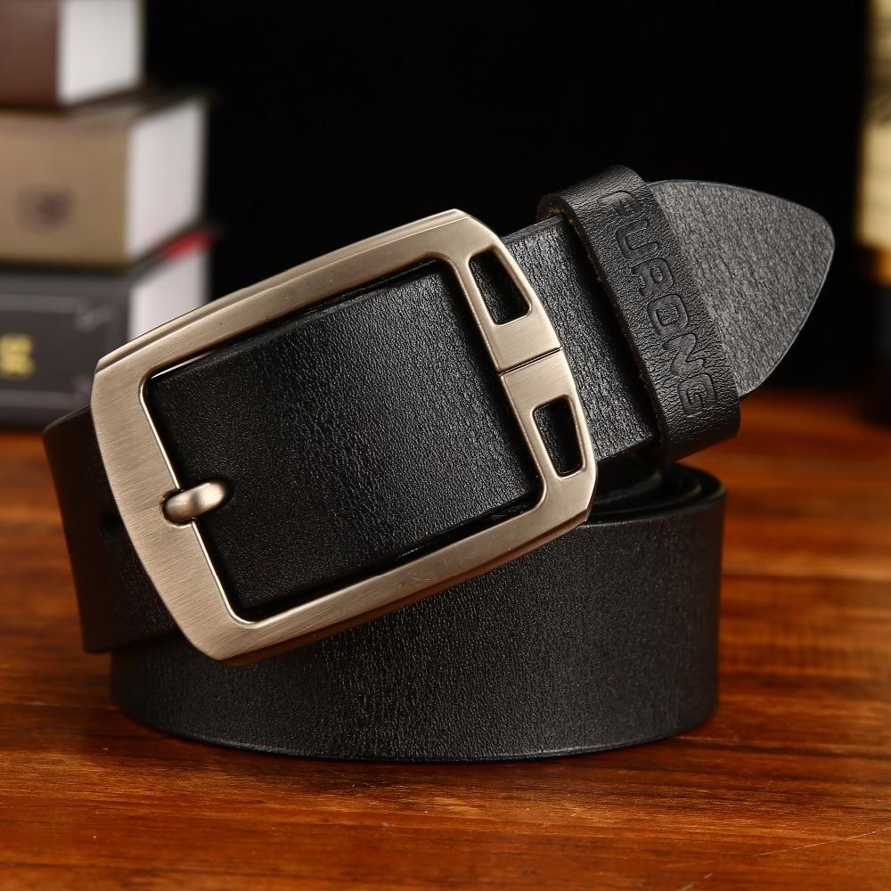 Extra Long Men's Belt Leather Leather Wide Waist Pin Buckle Fashion Design Belt Men's Large Size Large Waist Belt