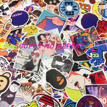 500 Pieces Do Not Repeat PVC Waterproof Fun Laptop Sticker The Luggage Stickers Handbag Decoration
