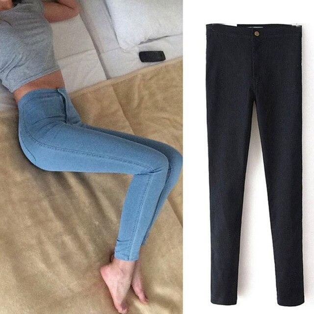 435f3e9c65 Hot Sale Push Up Jeans Woman Pencil Pants Vintage High Waist Jeans Women  Casual Stretch Skinny Jeans Femme