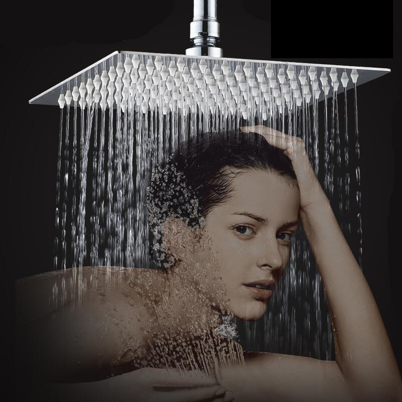 Modern Universal Bathtub Rainfall Shower Head Polished Wall Mouned 360 Degree Swivel Panel Mixer Tap Faucets Set Chrome Finished 8 led bathrome bathtub rainfall shower head polished wall mounted swivel mixer taps shower faucets set chrome finish