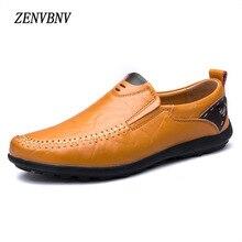 ZENVBNV Big Size 37~47 High Quality Genuine Leather Men Shoes Soft Moccasins Loafers Fashion Brand Men Flats Comfy Driving Shoes