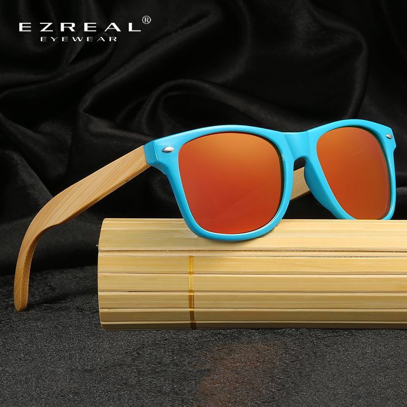 fc6bc888ba EZREAL 2017 Retro Bamboo Wood Sunglasses Men Women Brand Designer Goggles  Gold Mirror Sun Glasses Shades lunette oculo-in Sunglasses from Men s  Clothing ...