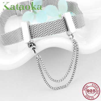 925 Sterling Silver Safety chain Fits Reflexions charm Bracelets