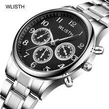 2019 Top Brand Watches Mens Leather Steel Belt Imitation Male Three-eye Quartz Student Watch
