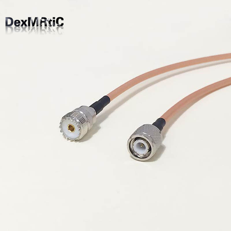 High-quality low-attenuation UHF Female Jack SO239 Switch TNC Male Plug RF coax cable RG142 50CM 20 Adapter бордюр love ceramic tiles deluxe barra onice exclusive 10x35