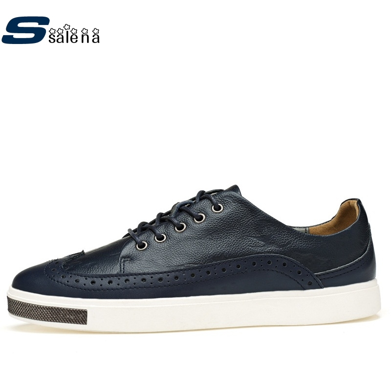 Male Casual Shoes Soft Footwear Classic Flats Men Genuine Leather Shoes Good Quality Working Shoes Size 38-44 AA30059 male casual shoes soft footwear classic men working shoes flats good quality outdoor walking shoes aa20135