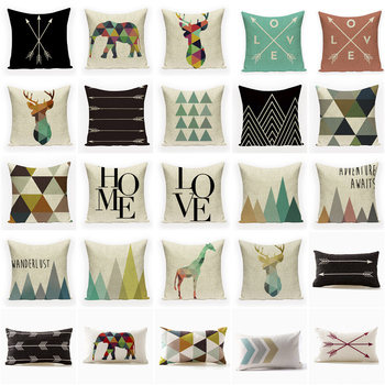 Nordic Geometric Decorative Pillowcase Bedroom Departments Living Room Pillowcases Rooms