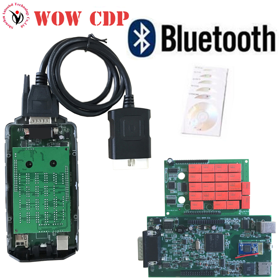 10pcs/Lot DHL Free V5.008R2 Keygen with Double Green Board NEC Relay 8.0 WOW CDP Snooper with Bluetooth work on Cars/ Trucks