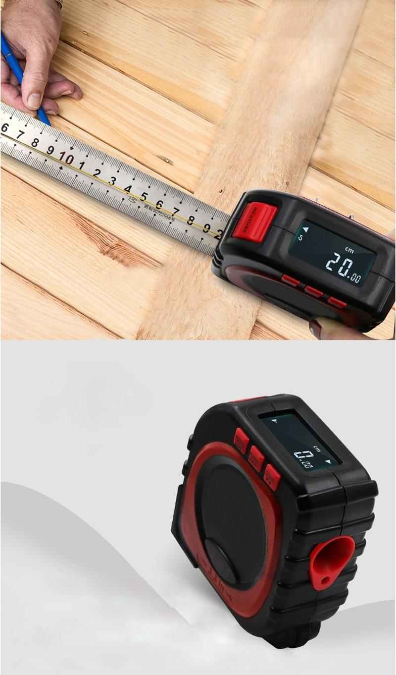 Multifunctional Three in one Tape Ruler Infrared Laser Rangefinder Measuring Instrument Tool Electrical Tape Measure in Tape Measures from Tools