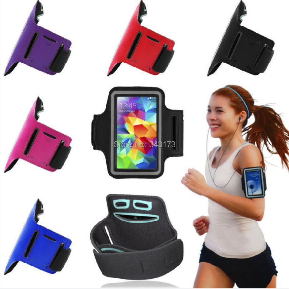 Sports Gym Armband Cover Jogging Cycle Running Arm Holder Case Cell Phone GREY