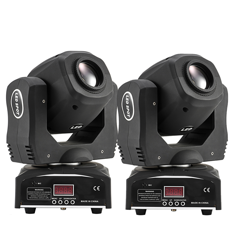 (2 pieces/lot) Moving Head Spot  Led Light Stage Lighting For Party or Mobile DJ niugul dmx stage light mini 10w led spot moving head light led patterns lamp dj disco lighting 10w led gobo lights chandelier