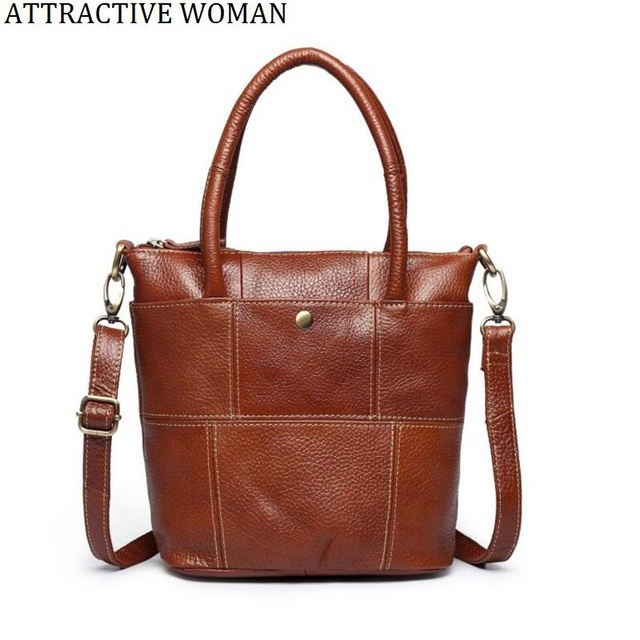 Real Genuine Leather Women Bag Cowhide Handbags Female Tote High Quality Messenger Bags Shoulder