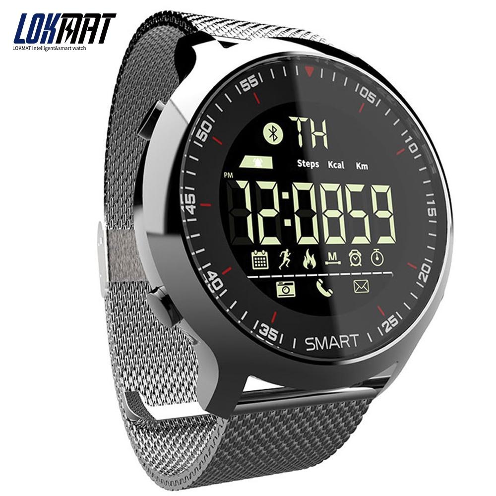 Reloj deportivo LOKMAT con Bluetooth impermeable para hombre reloj inteligente Digital Ultra-Largo soporte de espera llamada y SMS recordatorio SmartWatch