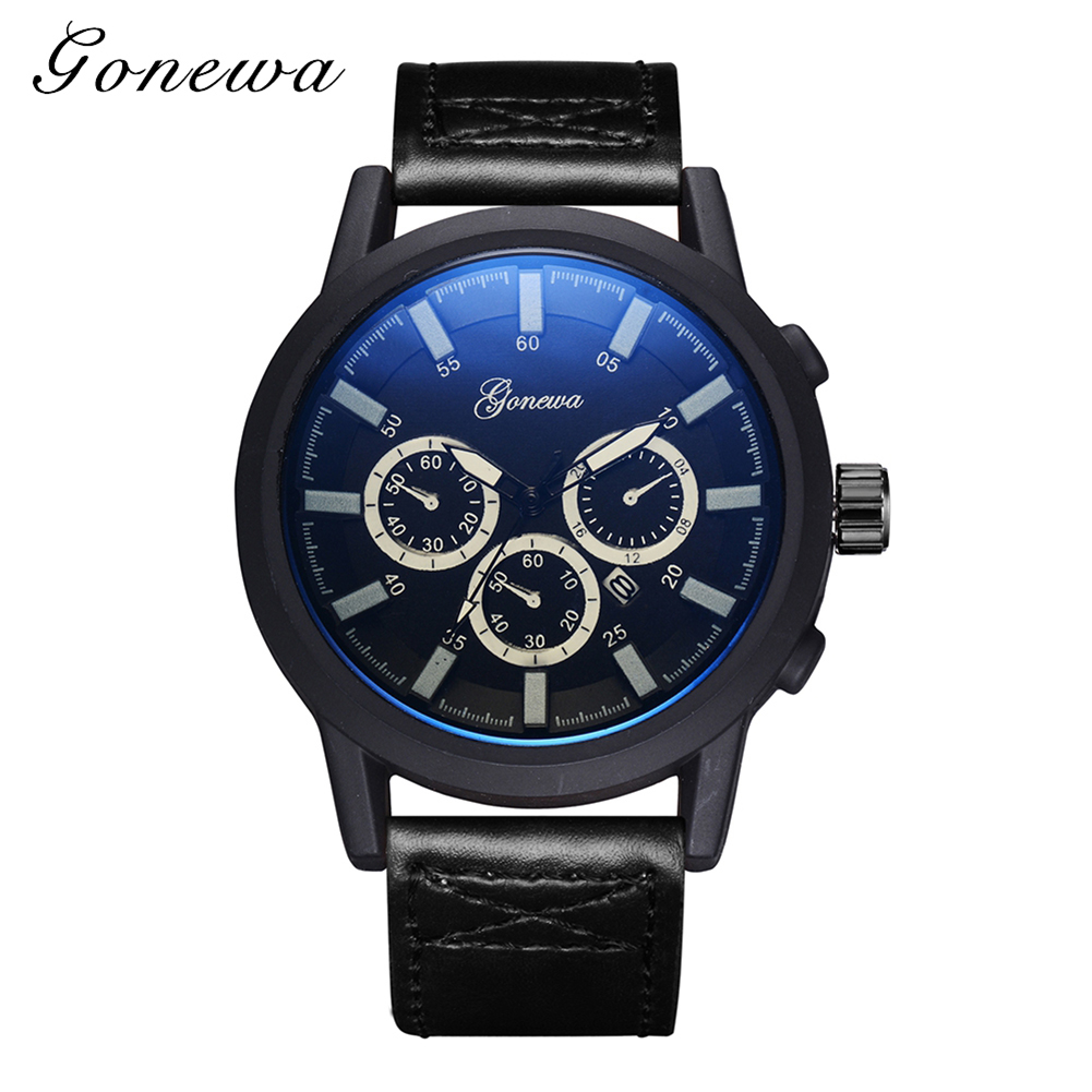 Luxury Brand Quartz Watches Men Analog Chronograph Clock Sports Watcher Military Leather Strap Fashion Wristwatch reloj hombre formatter pca assy formatter board logic main board mainboard mother board for canon mp610 610