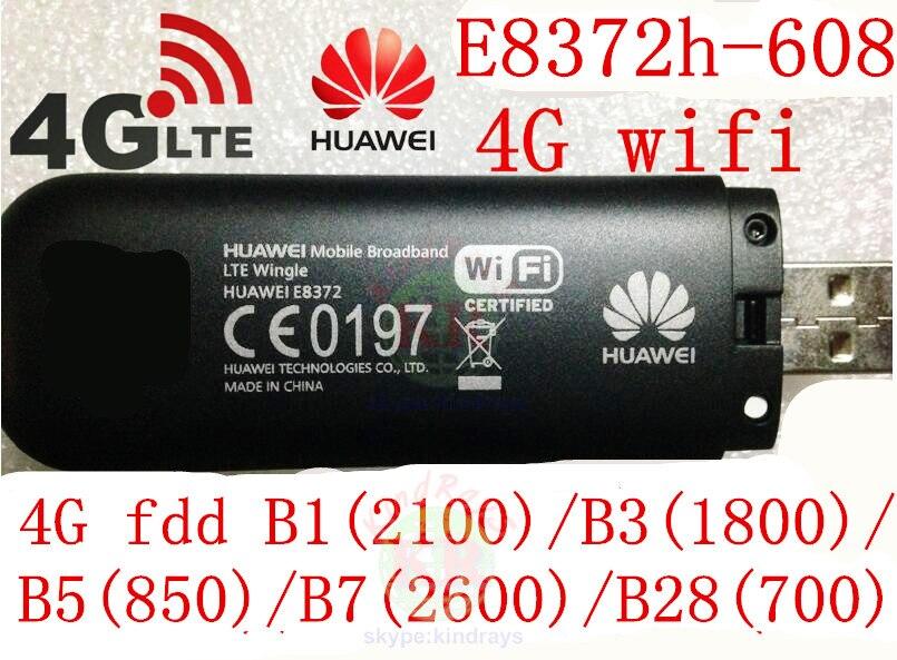 150Mbps Ξεκλειδωμένο Huawei E8372h-608 4g ασύρματο USB modem E8372 3g 4G Wifi δρομολογητής 4G stick 4g cpe αυτοκίνητο Modem PK E8278 e3276 e8377 w800