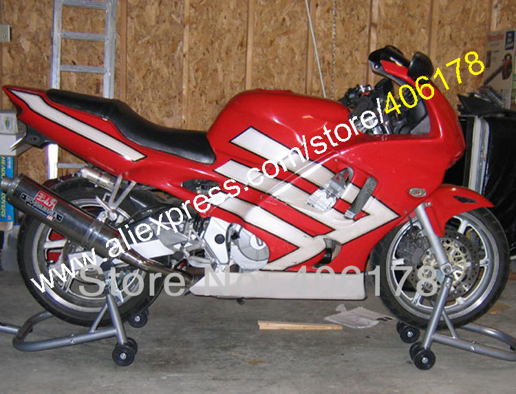 Hot Sales,New Red white Fairing For Honda CBR 600 F3 97 98 1997 1998 CBR600F3 CBR 600F3 CBR600 fairing (Injection molding)