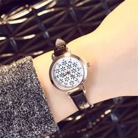 Black Fashion Women Watches 2017 Luxury Brand Cute Leisure Leather Belt Dress Ladies Wristwatches Analog Clock