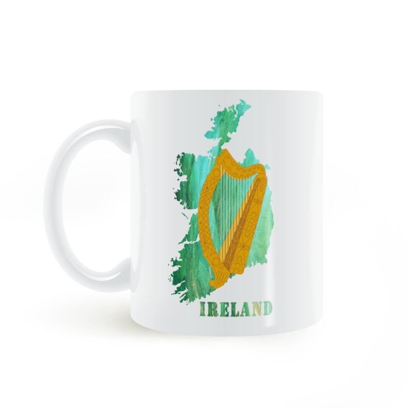 Arms Ireland 11oz Decor Us13 Coffee Ceramic Map Mug Gifts angel Coat Creative Diy Harp T175 Garden Milk Home 10Off 5 Mugs In Fromamp; Of OXuPkZi