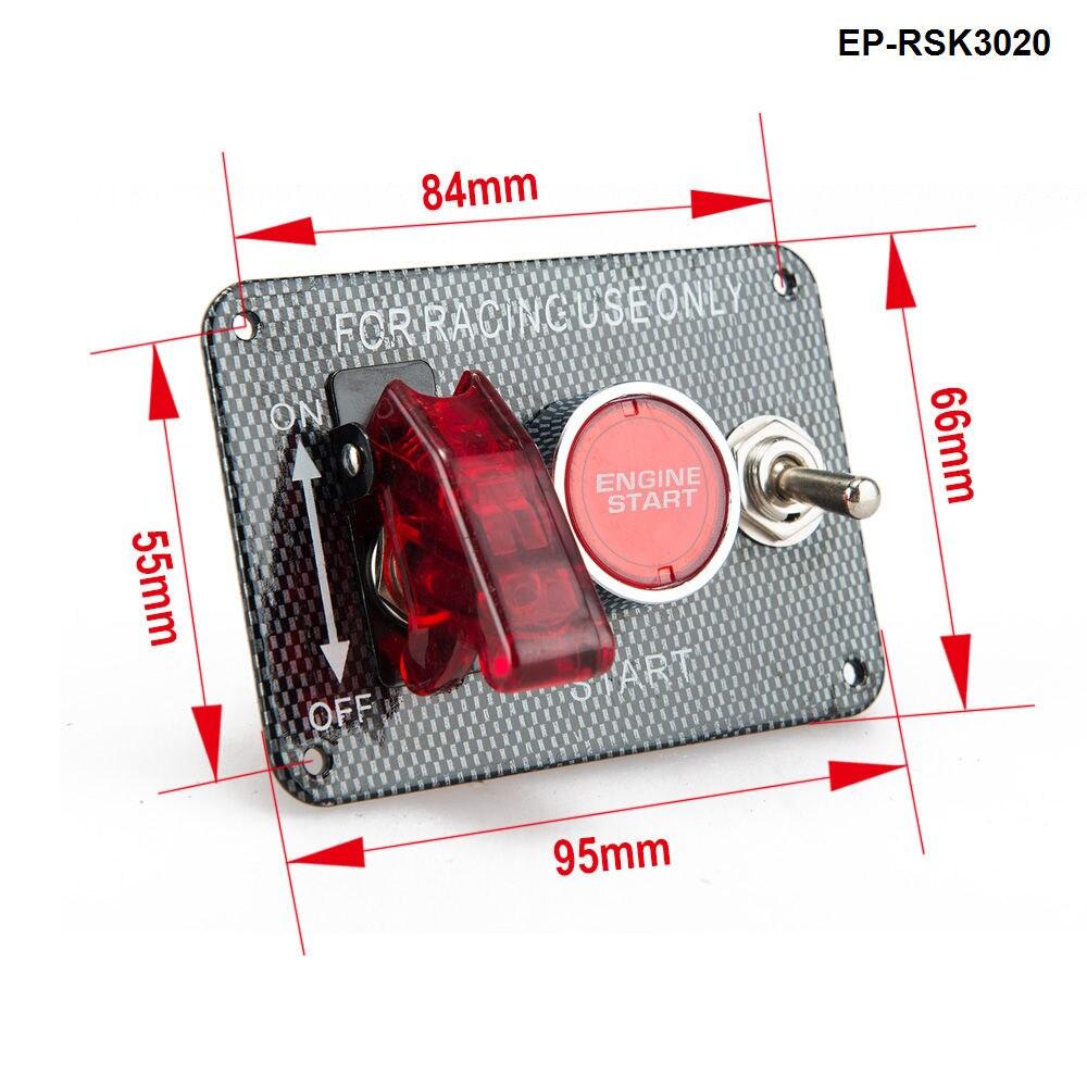 12 В переключатель зажигания Панель запуска двигателя кнопочный светодиодный переключатель для гоночного автомобиля EP-RSK3020