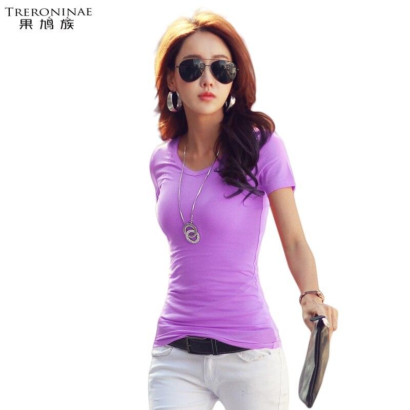 Treroninae Store TRERONINAE O-neck women 2017 summer female t shirt cotton casual tee shirts short sleeve fashionable top plus size undershirts