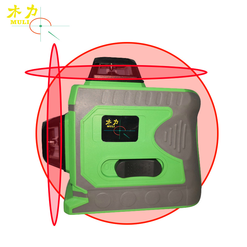 muli 3D12 Line Red Light And LD Blue Level Automatic Horizontal With Diagonal Large Lithium Battery Laser Measuring Instrument