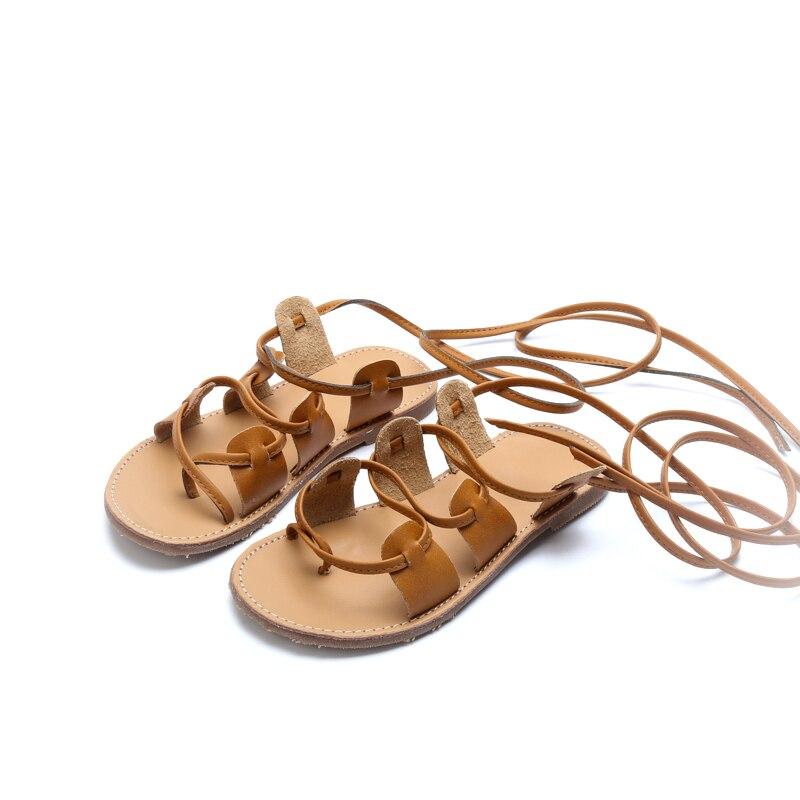 2017 Fashion Girls Sandals Kids PU Flat Shoes Children ...