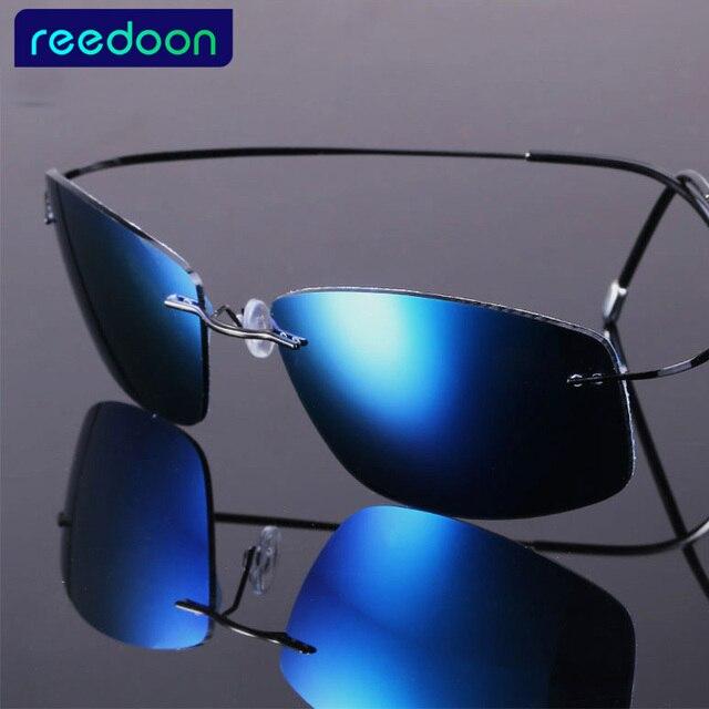2016 nueva moda ultraligero sin rebordes titanium gafas de sol polarizadas hombres brand design gafas de sol de conducción pesca gafas de sol