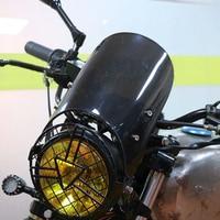 Universal Motorcycle Windshield Windscreen for 5 7'' Headlight Wind Deflector for YAMAHA XJR 1200 SUZUKI GSF 600N BANDIT SV 650