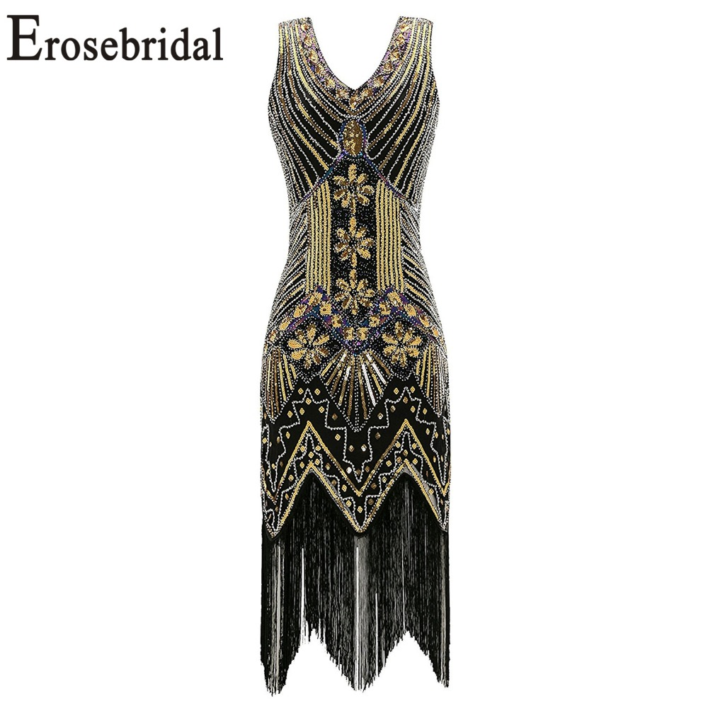 Erosebridal Short   Cocktail     Dress   2019 Sexy Mermaid Prom Party Gowns V Back Design Sparkly Sequined with Beaded 48 Hour Shipping