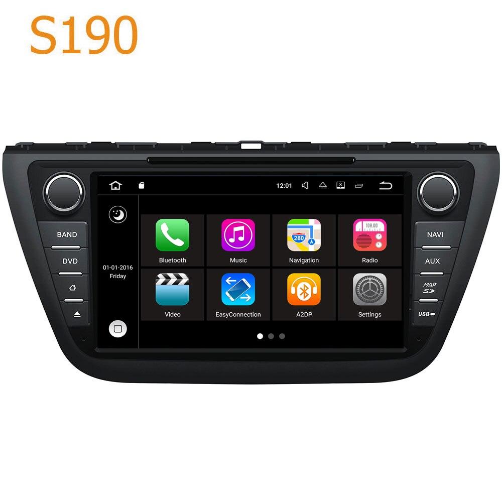 Route Top Winca S190 Android 7.1 Système PX3 Voiture GPS DVD Lecteur Autoradio pour Suzuki SX4 S Cross 2013-2016 avec Radio Navigation