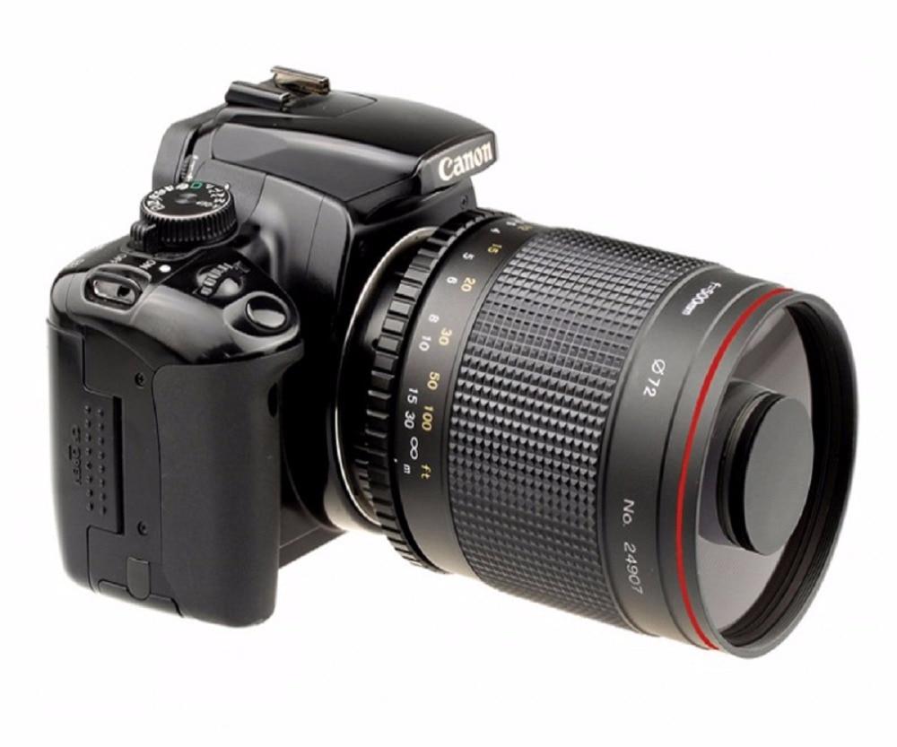 Objectif miroir téléobjectif 500mm F/8.0 avec bague adaptateur T2 pour appareil photo canon 550D 650D 70D 60D 7D 7D2 760D 77D 80D appareil photo reflex numérique