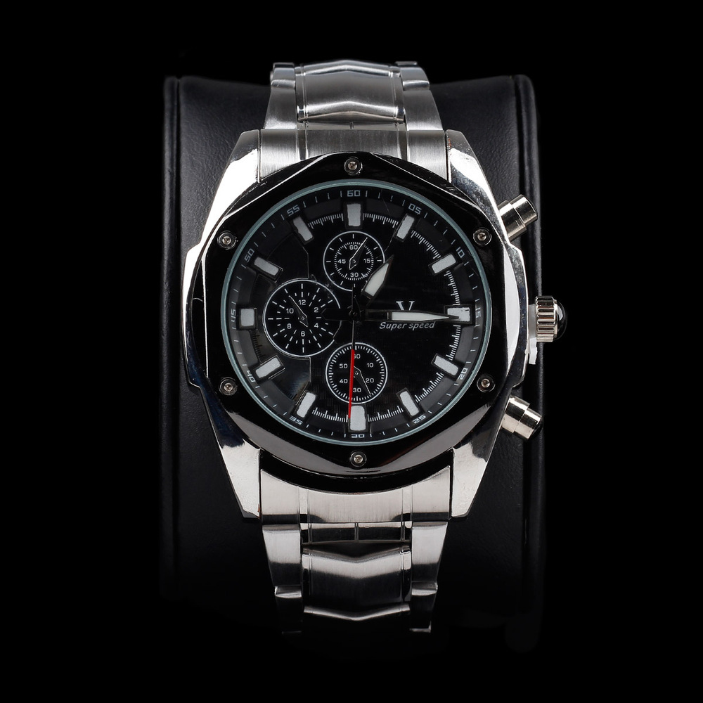 117034f7273 High Quality Quartz Watch Men Business Vintage Luxury Watch Brand V6 A006  Black Hot Sale Stainless Steel Watch Free Shipping