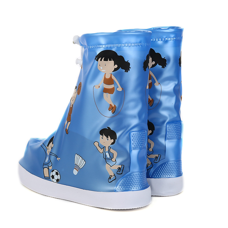 1pair Waterproof Protector Boot Cover Unisex children shoe pou Covers High Top Anti Slip Rain Shoes Cases Non Slip Rainboot in Boots from Mother Kids