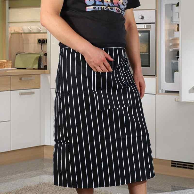 טרנדי זול מטבח בישול סינר לגבר אישה שף מלצר פוליאסטר חצי גוף סינר מטבח מסיבת שימושי בישול אבזרים
