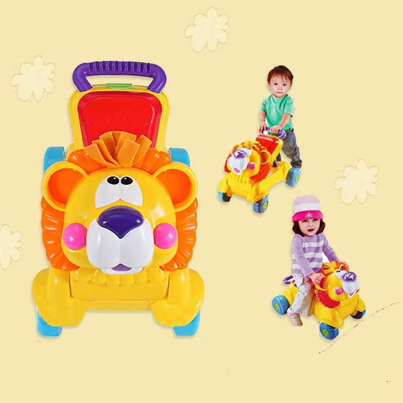 מוסיקלית 2 ב 1 אריה תינוק הליכון והוא יכול להשתמש במושב