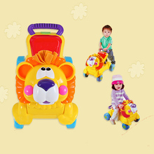 Musical 2 in 1 lion baby walker and can use as seat