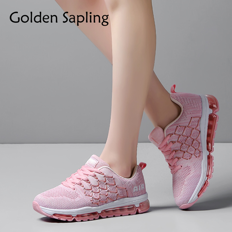 Golden Sapling Breathable Women's Running Shoes Air Cushion Sneakers for Women Trainers Female Sport Shoes Top Run Sneaker Woman цена