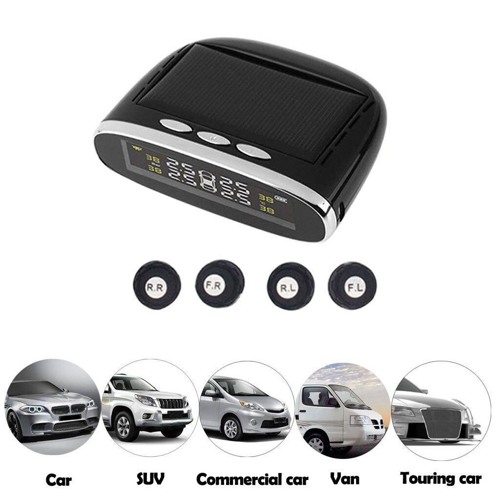 Automotive Tire Detector Solar Wireless TPMS Automotive Pressure Monitoring System External Pneumatic Pressure Sensor