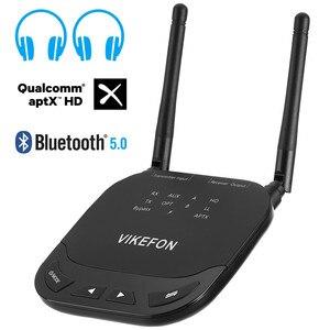 Image 1 - 80M Long Range 3 In1 Bluetooth 5.0 Audio ontvanger Zender Aptx Ll/Hd Voor Tv Auto Pc Rca 3.5Mm Jack Aux Spdif Draadloze Adapter