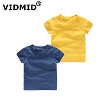 Vidmid детские для мальчиков, Детская футболка для девочек Хлопковые Топы с коротким рукавом для мальчиков детские носки леденцовых цветов Одежда для маленьких мальчиков топы для девочек, футболки, 4018