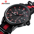 LONGBO Brand Luxury Casual Hollow Out Dial Unique Design Watches Leather Date Calendar Men Waterproof Wrist Watches Gift 3018