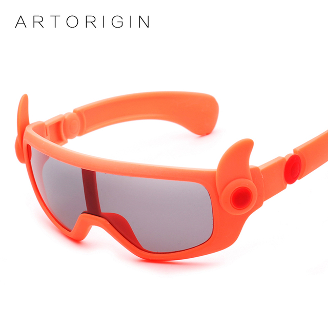 37917a323c ARTORIGIN New Polarized Kids Sunglasses Cartoon Design Girl Boy Baby Glasses  Flexible Children Sunglasses Oculos De Sol AT1085