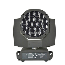 New 19 15W Four-in-one LED Focus Bee Eye Moving Head Light DMX512 Wedding Bar Show KTV Stage Lighting AC100V-240V / 50-60HZ 450W