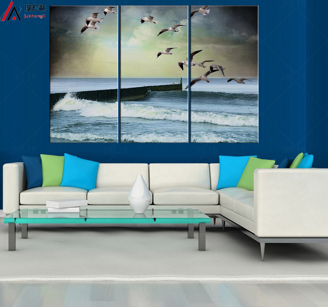 Sea Wall Art Canvas Marine Decor Nature Poster Modern Paintings Pictures For Living Room Modular